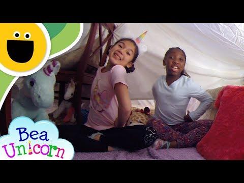 How to Build a Blanket Fort | Bea Unicorn (Sesame Studios)
