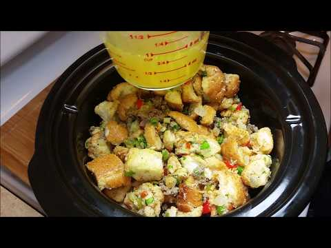 Slow Cooker Dressing Recipe - How To Make Sausage Dressing