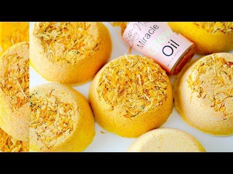 Making Turmeric Bathbombs DIY! Turmeric Beauty DIY Skincare Bathbombs!
