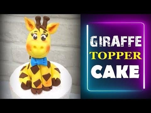 Easy fondant giraffe topper tutorial