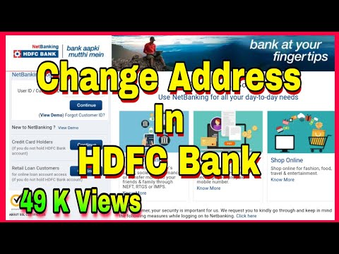 Change Address In HDFC Bank | HDFC Bank Me Address Change Kaise Kare |