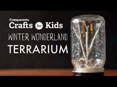 Winter Wonderland Terrarium | PBS Parents | Crafts for Kids