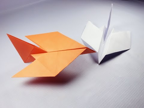 Easy Paper Bird Airplane Origami how to make easily best airplane
