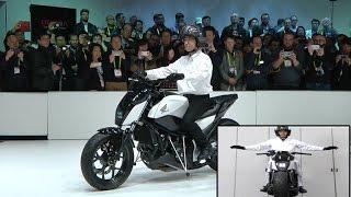 Honda Defying gravity By new self-balancing motorcycle at CES 2017
