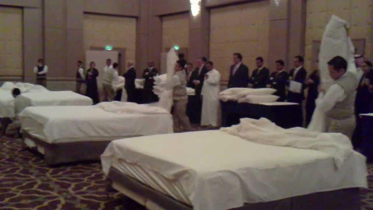 Bed Making Contest Four Seasons Hotel Riyadh