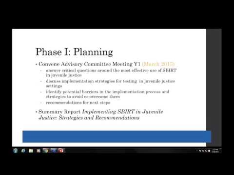 SBIRT for Youth Learning Community: Developing an SBIRT Model for Use in Juvenile Justice Settings