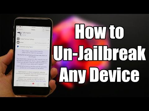 How to Un-Jailbreak Your iPhone, iPod, & iPad Without Computer - VERY EASY!!