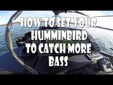 How to SET UP your HUMMINBIRD to CATCH more BASS