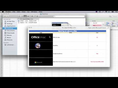 How Do I View Excel Spreadsheets on a Mac That Were Created on a PC? : Using Excel & Spreadsheets