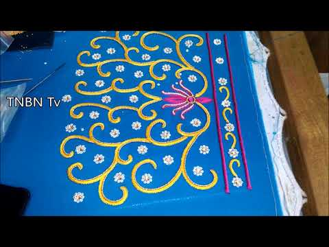 simple maggam work blouse designs | designer blouse designs | hand embroidery tutorial for beginners