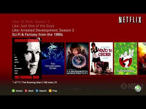 New Xbox 360 Dashboard - Netflix Interface