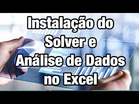 Instalação do solver e análise de dados no Excel 2003-2007