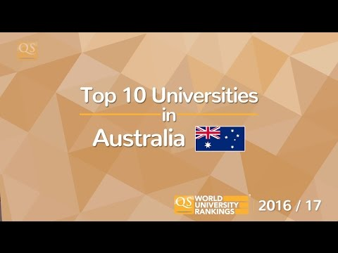 Top 10 Universities in Australia 2016/17