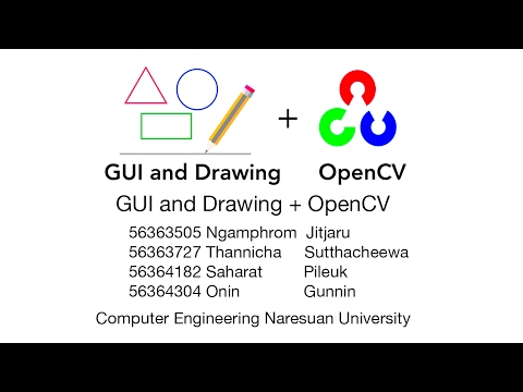 OpenCV Tutorial : GUI And Drawing