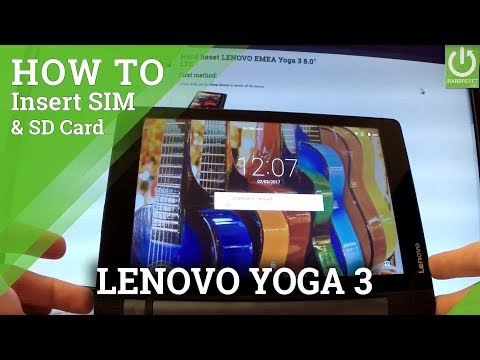 Insert SIM & SD in LENOVO Yoga 3 - Set Up SIM and SD Card