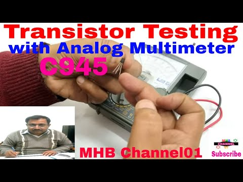 How to test Transistors with  multimeter