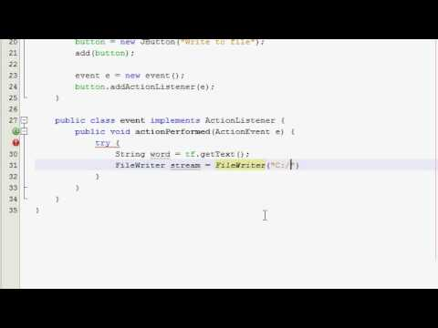 Java GUI Tutorial 35 - Basic Input/Output