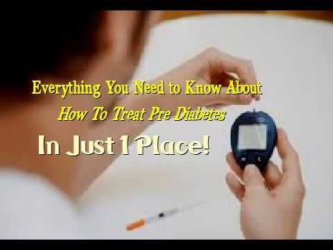 How To Treat Pre Diabetes