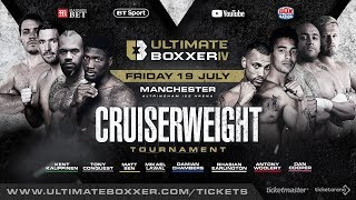Live professional boxing! Ultimate Boxxer IV: Cruiserweights | Full tournament