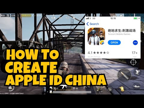 How to create apple id region china ? How to download pubg on ios?
