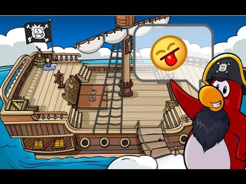 Club Penguin How to Board Rockhopper's Ship Without him visiting the Island-[No longer Works]