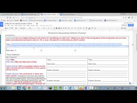 Planning the Introduction and Conclusion of your Expository Essay