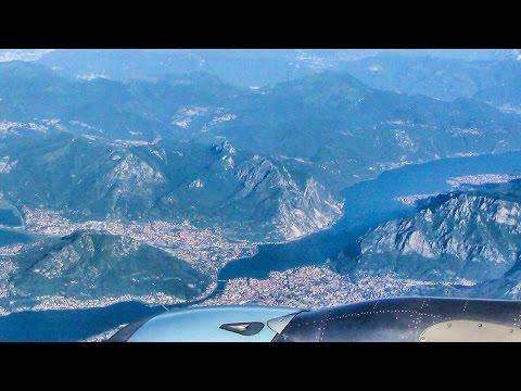 Italian Lakes and Dolomites Alps. Airbus A319. Wien - Milan Malpensa Flight OS511 Austrian Airlines