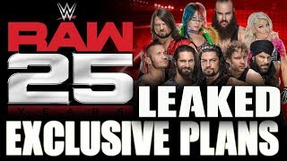 WWE Raw 25th Anniversary Show PLANS LEAKED & Feature Classic WWE Stars - WWE NEWS 2018