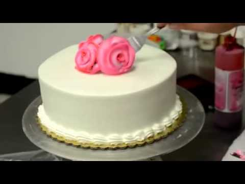 How to make cake Basic Rose Swirl Cake With Whipped cream frosting Tutorial video