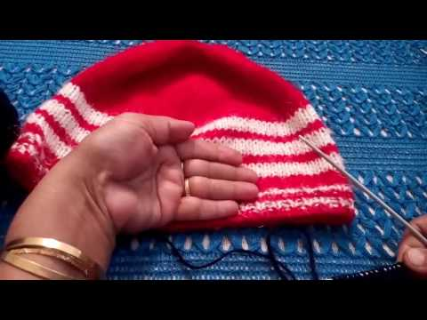 247 - How to knit a simple CAP for beginners  (Hindi /Urdu) 15/1/17