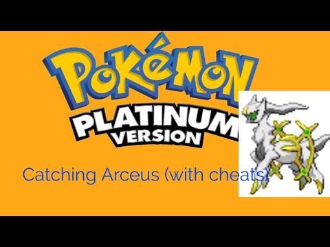 Pokemon Platinum: Catching Arceus (with cheats)