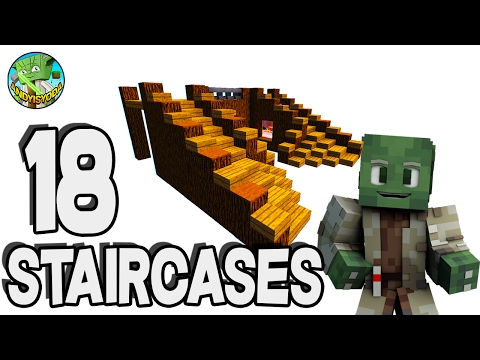 18 Stair Cases in Minecraft (creative & default)