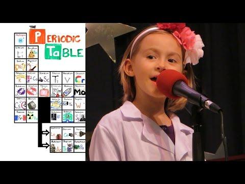 """6yo Girl sings """"The NEW Periodic"""