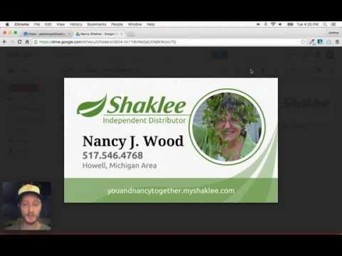 Professional Business Cards using Google Drive