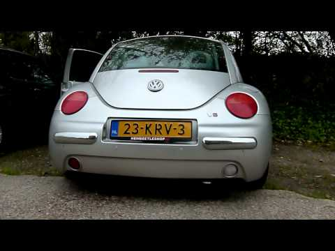 Volkswagen New Beetle 2.3 V5 met maatwerk RVS sport- uitlaatsysteem van EPS Uitlaten