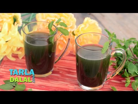 Fresh Herbal Tea, Tulsi Mint and Ginger Drink for Cold by Tarla Dalal