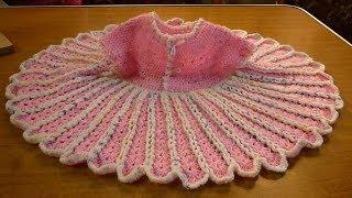 كروشيه فستان اطفال بنقشةالوردة شرح واضح للمبتدئين crochet girls dress