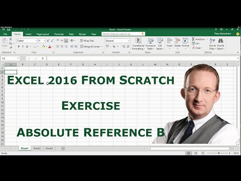 Excel 2016 from Scratch. Exercise - Protect sheet, lock and unlock cells
