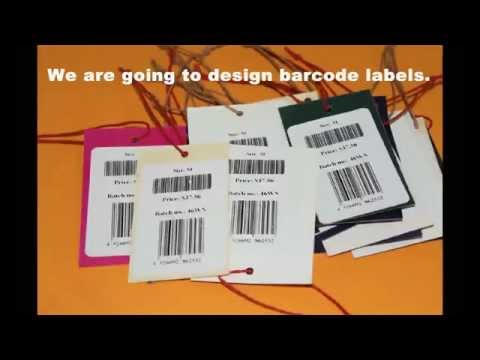 Information about how to design and print barcode labels for price tags