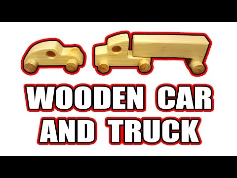 Wooden Car and Truck Toys