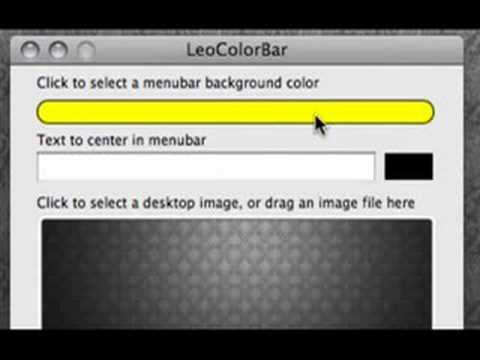 How To Change The Color Of Your Menu Bar