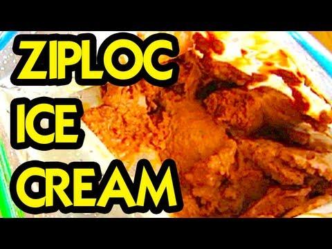 HOW TO MAKE HOMEMADE ICE CREAM in a ZIPLOC BAG