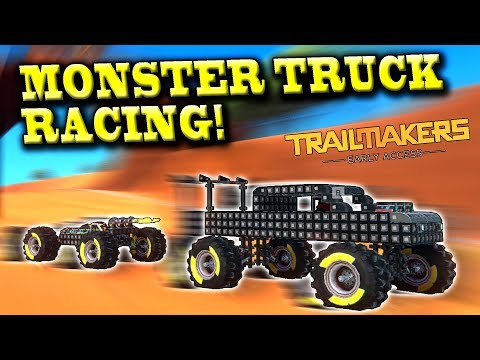 MONSTER TRUCK RACE CHALLENGE! (Racing Update Multiplayer) - Trailmakers Early Access Gameplay Ep12