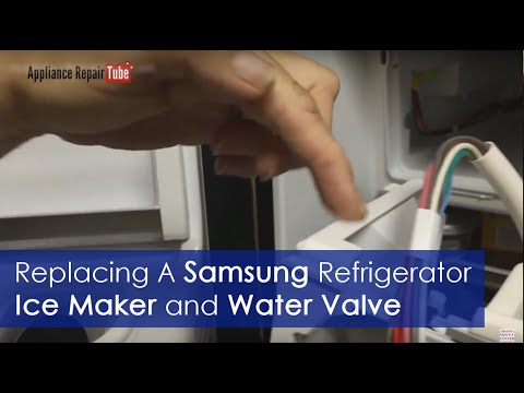How To Replace Samsung Refrigerator Ice Maker and Water Valve - DIY Video