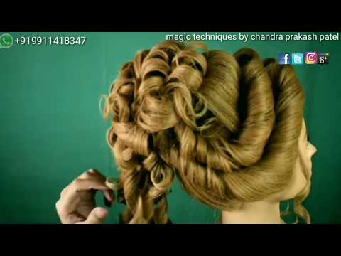 indian hindu bridal traditional bun 2018  hairstyle (magic techniques by chandra prakash patel)