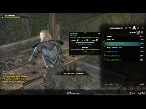Elder Scrolls Online Woodworking Crafting Guide