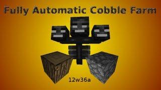 Minecraft 12w36a: Fully Automatic Cobble Farm And Auto Harvest Wood Farm