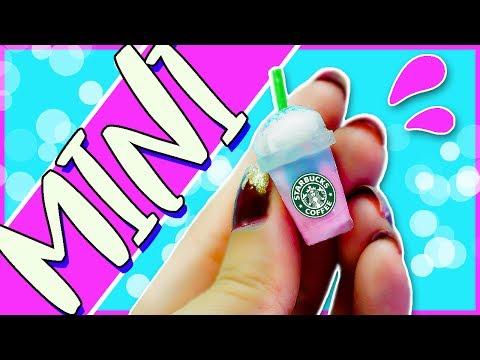 Miniature Starbucks UNICORN DRINK Tutorial 🦄  No Polymer Clay!