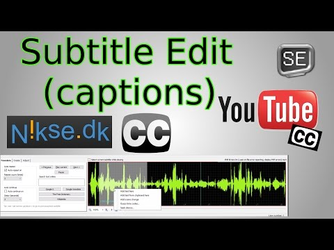 Create Captions for YouTube Videos (Subtitle Edit Tutorial)