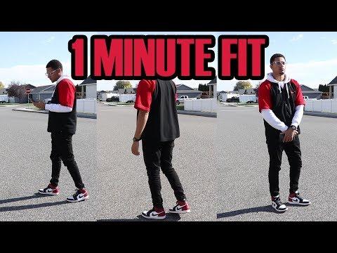1 Minute Fit: Vintage Nike + Black Toes (Red/Black Fit)